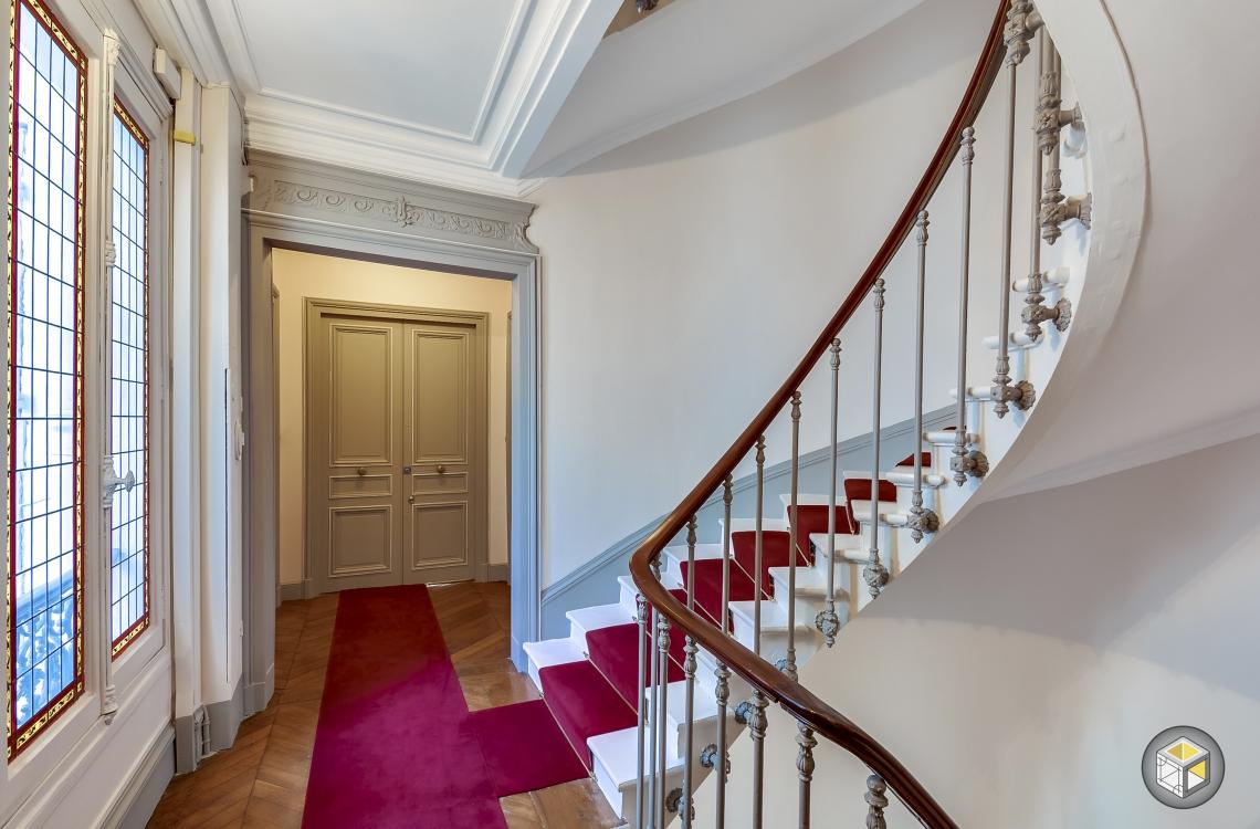 R novation cage d 39 escalier paris rue d 39 artois r - Renovation cage d escalier immeuble ...