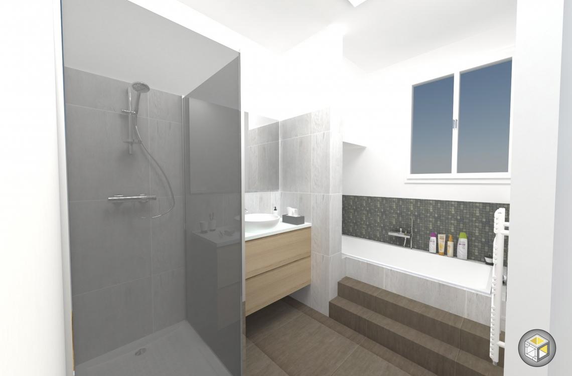 R novation cuisine et salle de bain rue de silly r for Renovation cuisine 3d