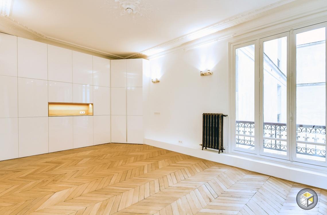r novation appartement cuisine ouverte paris monceau 2 r novateurs. Black Bedroom Furniture Sets. Home Design Ideas