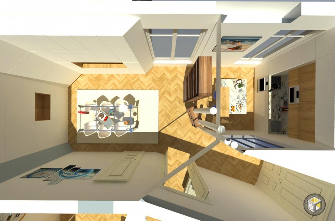 visuel 3d avant travaux de l'appartement