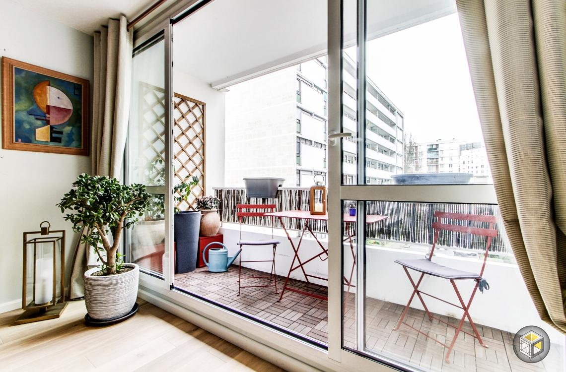 baie vitrée balcon paris