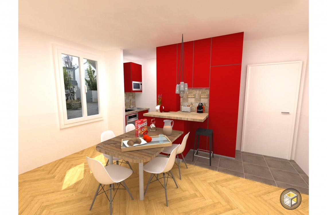 pose cuisine ouverte toute quip e paris r novateurs. Black Bedroom Furniture Sets. Home Design Ideas
