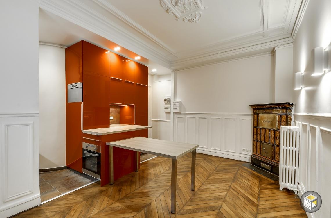 Pose cuisine ouverte toute quip e paris r novateurs for Appartement cuisine ouverte