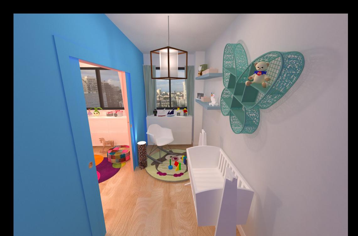 visuel 3d chambre enfant bébé garçon