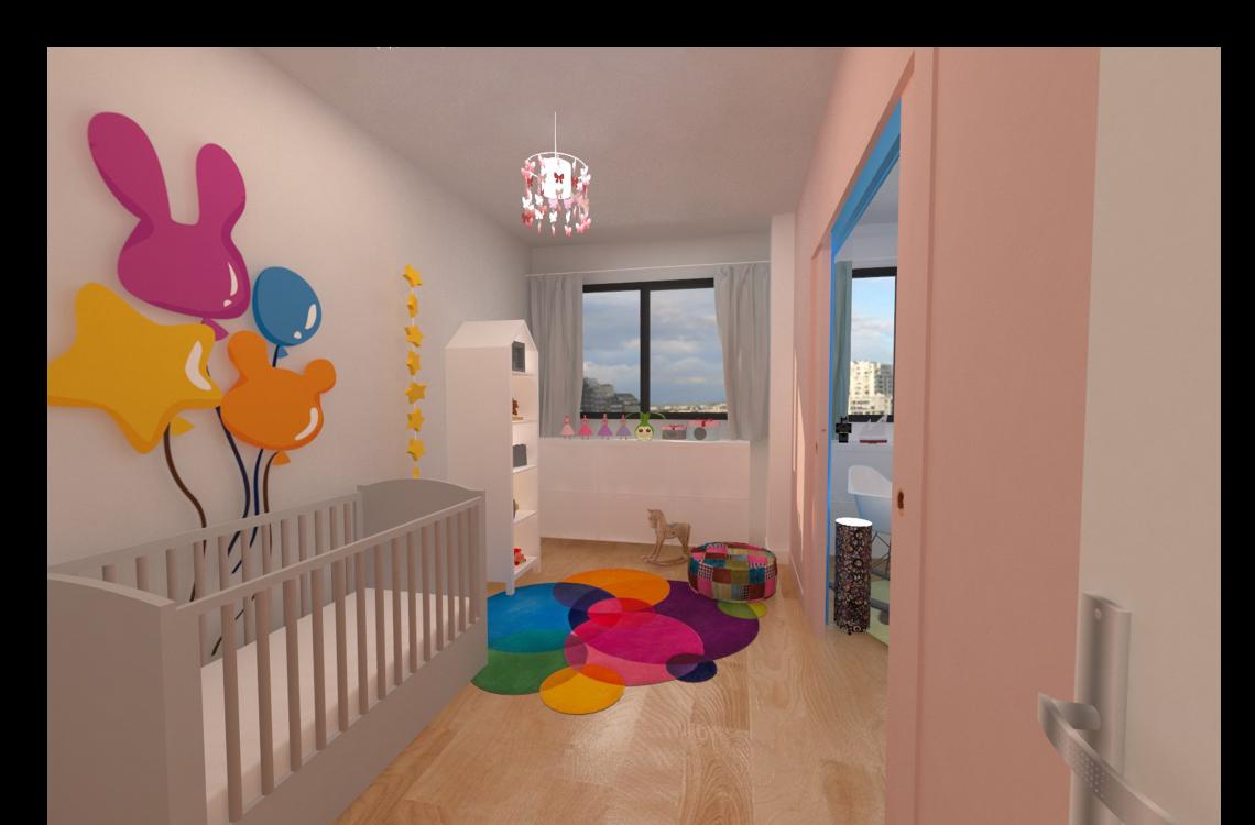 visuel 3d chambre enfant