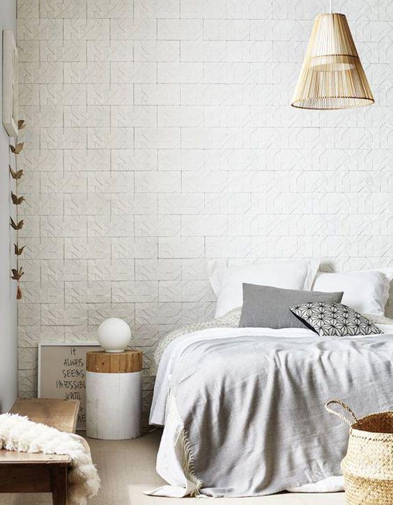 cr ez vous m me une t te de lit en papier peint r novateurs. Black Bedroom Furniture Sets. Home Design Ideas